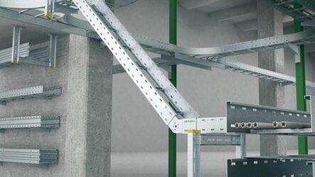 Полка кабельная для удобства монтажа электросетей