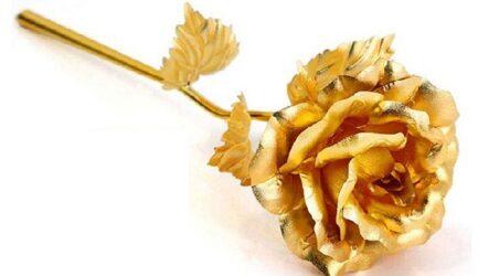 Живые цветы с золотом