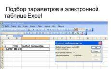 Использование средства Ехсеl «Подбор параметра» и «Таблицы подстановки» для улучшения характеристик модели